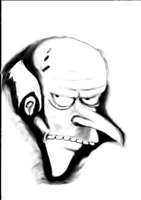 Dibujando a Mr. Burns