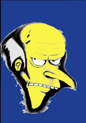 Dibujando a Mr. Burns (dve)